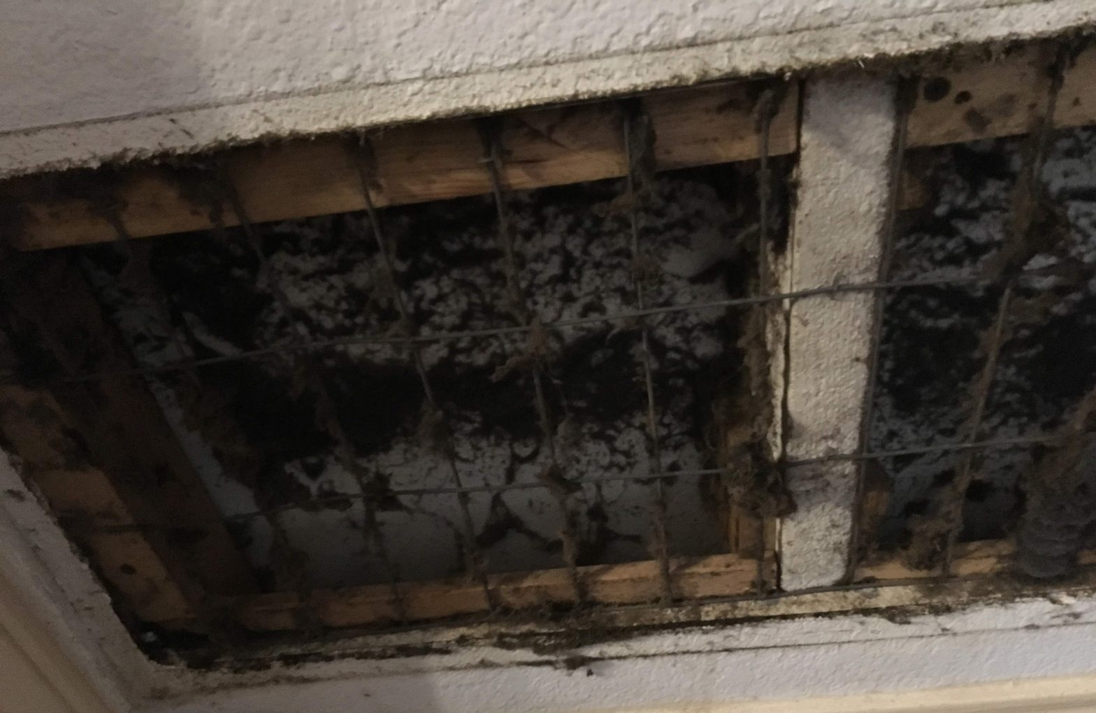 Take off the vent and look!
