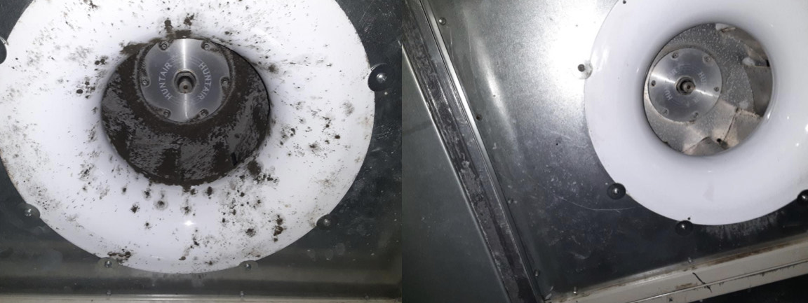 Dirty commercial duct to clean!