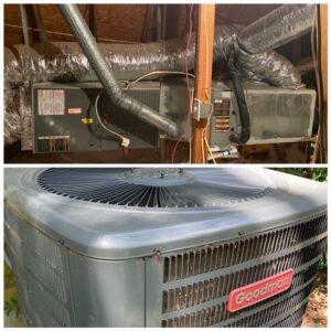 Top is HVAC unit, Bottom is Condenser